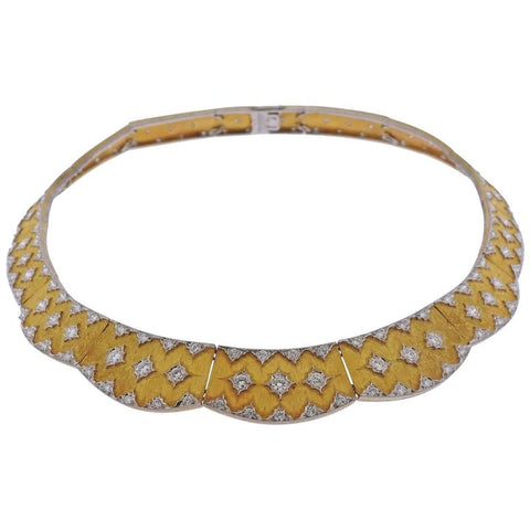 image of Important Buccellati Diamond Gold Necklace