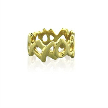 image of Tiffany & Co Paloma Picasso Love And Kisses 18K Yellow Gold Ring