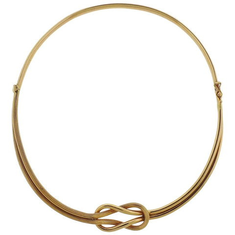 image of Lalaounis Greece Gold Hercules Knot Necklace