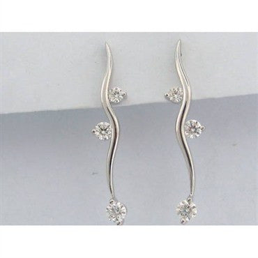 thumbnail image of Hearts On Fire 18k 1.03ct Diamond Serpentine Earrings