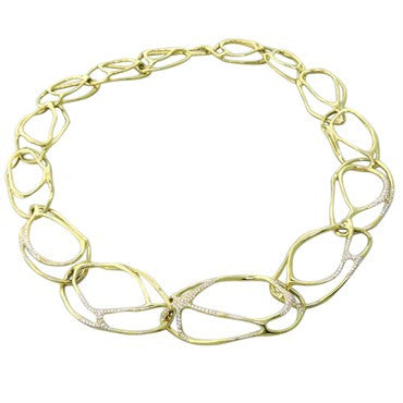 thumbnail image of Ippolita Drizzle Multi Link Diamond Gold Necklace