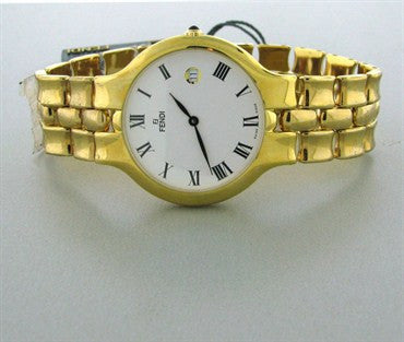 thumbnail image of New Fendi Womens White Dial Gold Tone Ladies Watch F88140