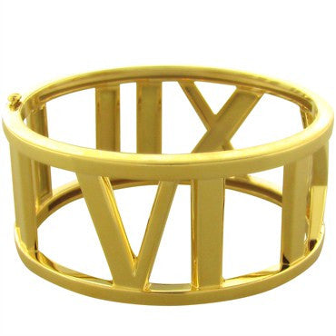 thumbnail image of Tiffany & Co Atlas 18k Gold Bangle Bracelet