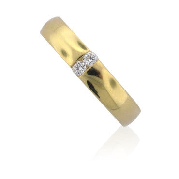 image of New Hearts On Fire 18k Gold Diamond Ladies Duet Band