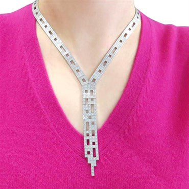 image of H. Stern Metropolis Collection Diamond Gold Necklace