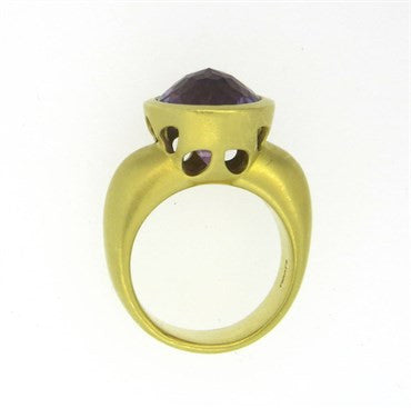 thumbnail image of Elizabeth Rand Amethyst Gold Ring