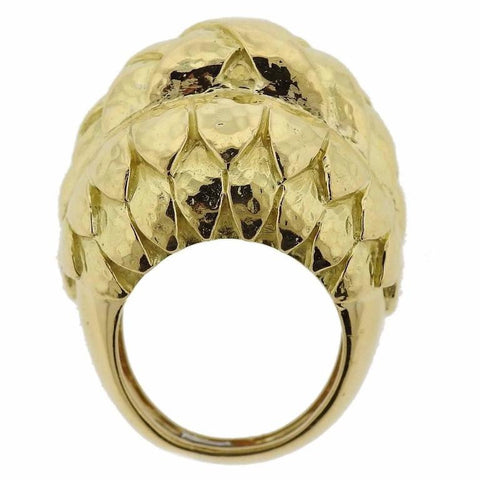 David Webb 18k Gold Dome Ring