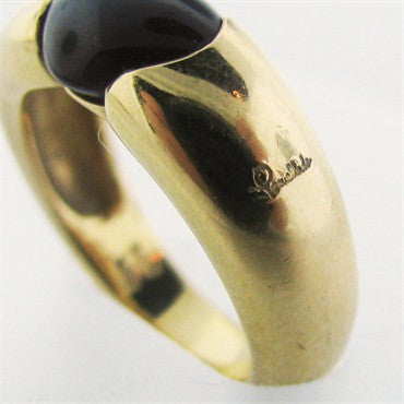 image of Estate Pomellato 18k Gold Garnet Ring