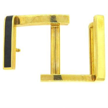 Tom Ford Onyx Inlay 18k Gold Belt Buckle