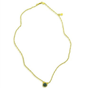 thumbnail image of New Gurhan 24K Gold Green Tourmaline Necklace