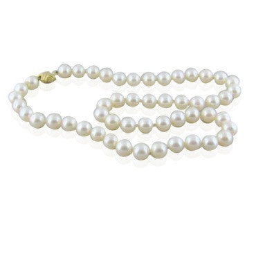image of Tiffany & Co Signature 18k Gold 8.4mm Pearl Necklace