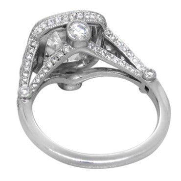 image of Tiffany & Co. Legacy 3.92ctw G VS2 Diamond Platinum Engagement Ring