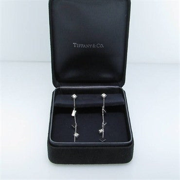 thumbnail image of Tiffany & Co Gehry Torque 18k Gold Diamond Earrings