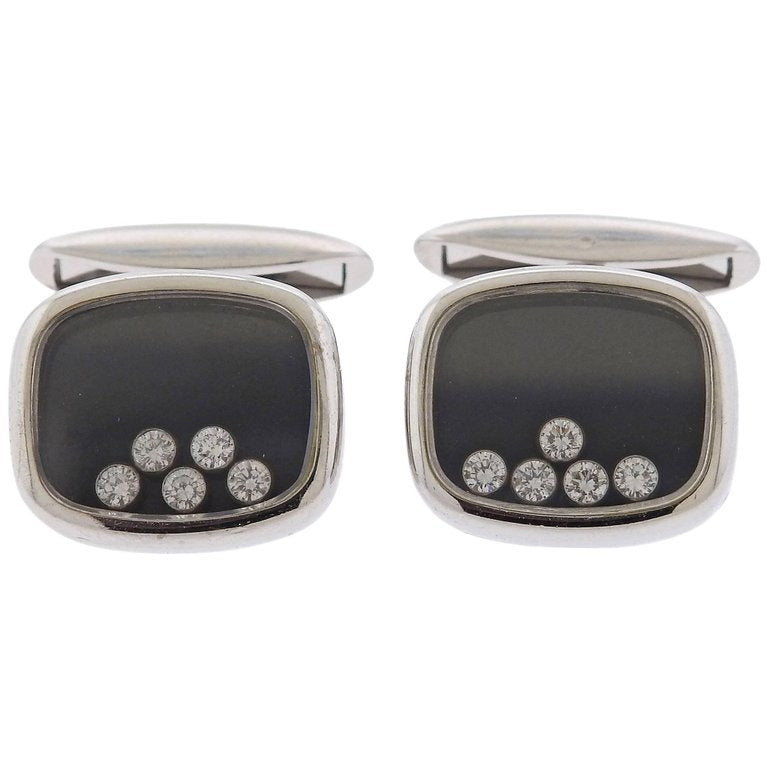 thumbnail image of Chopard Happy Diamonds Gold Cufflinks