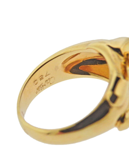 image of Cartier Panthere 18k Gold Onyx Emerald Ring