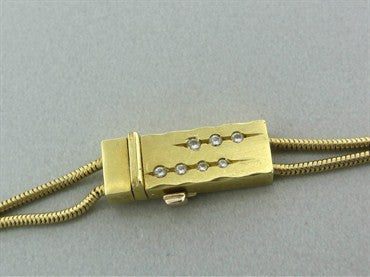 thumbnail image of H. Stern 18K Yellow Gold Diamond Slide Necklace