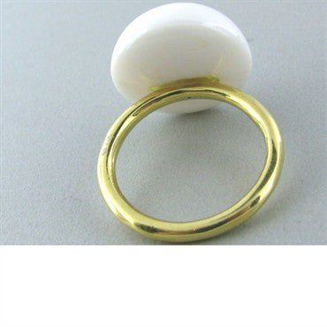 thumbnail image of Faraone Mennella 18k Gold White Jade Ring