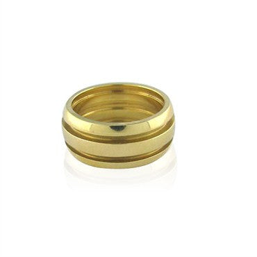 image of Estate Tiffany & Co Atlas Wide 18k Gold Ring