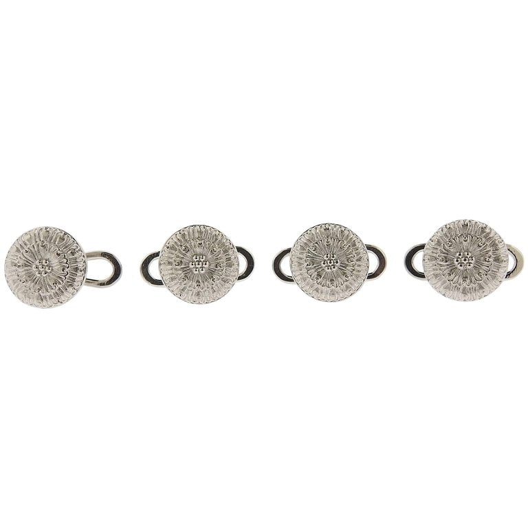 thumbnail image of Buccellati White Gold Cufflinks Button Stud Set