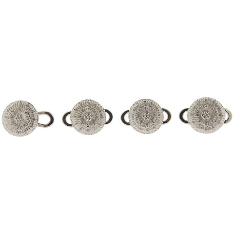 image of Buccellati White Gold Cufflinks Button Stud Set