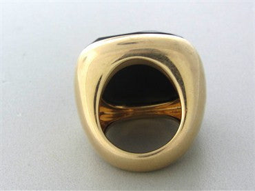 thumbnail image of Large Pomellato Victoria 18K Rose Gold Jet Ring