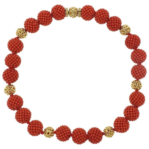 image of Adria de Haume Coral Gold Necklace