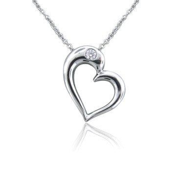 image of Hearts On Fire Amorous Sculpted Heart Diamond Necklace