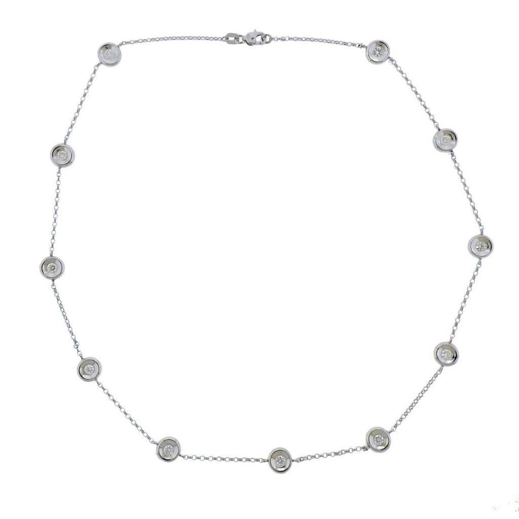 thumbnail image of 14k Gold Diamond Station Necklace