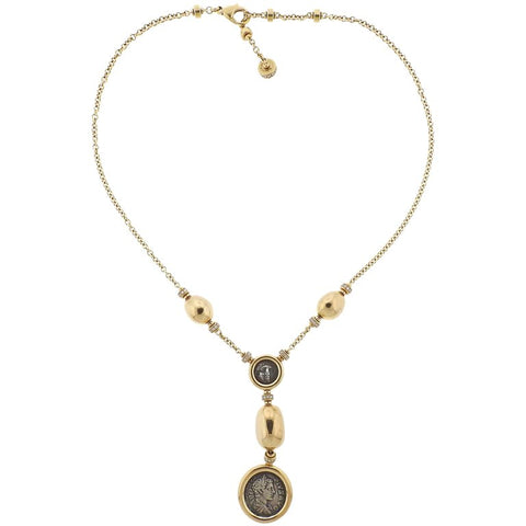 image of Bulgari Monete Ancient Coin Diamond Gold Necklace
