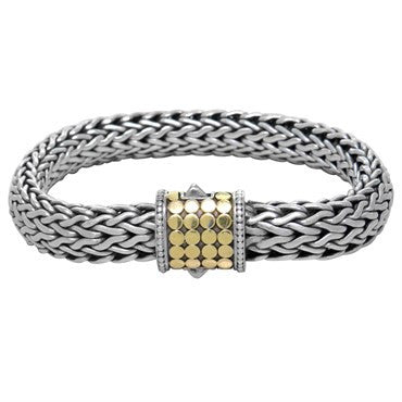 image of John Hardy Dots Sterling Silver 18K Gold Large Bracelet