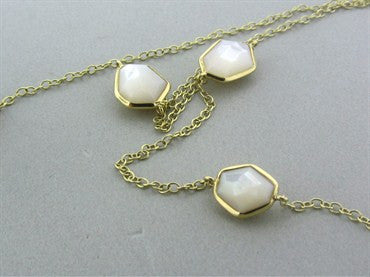 thumbnail image of New Ippolita 18K Rock Candy Long Mini Stone Mother Of Pearl Necklace