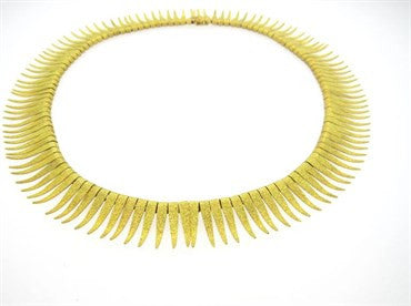 thumbnail image of 1950s 18k Gold Fringe Necklace