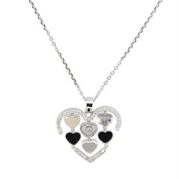 Chopard happy amore gold floating diamond heart pendant necklace aloadofball Gallery