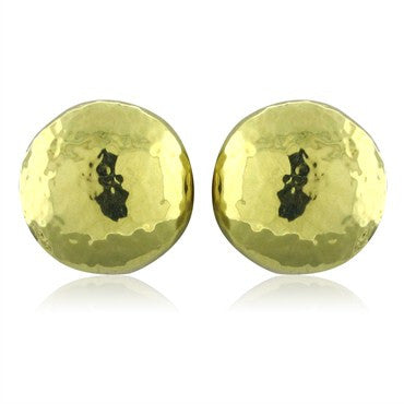 image of New Ippolita 18K Gold Glamazon Dot Button Earrings