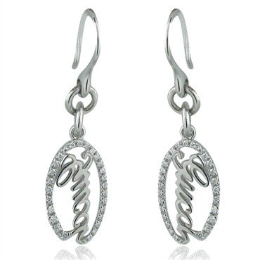 image of Gucci 18K White Gold Diamond Drop Earrings