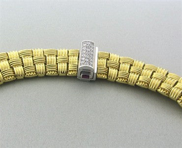 image of Roberto Coin Appassionata 18K Gold Diamond Necklace