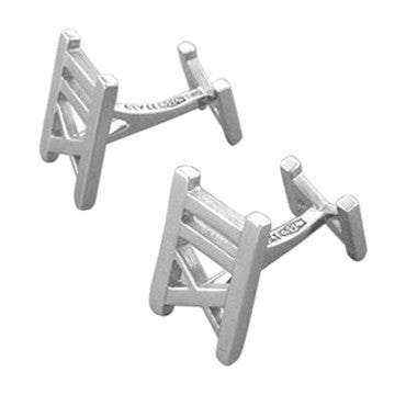 image of Estate Tiffany & Co Atlas Collection 18K White Gold Cufflinks
