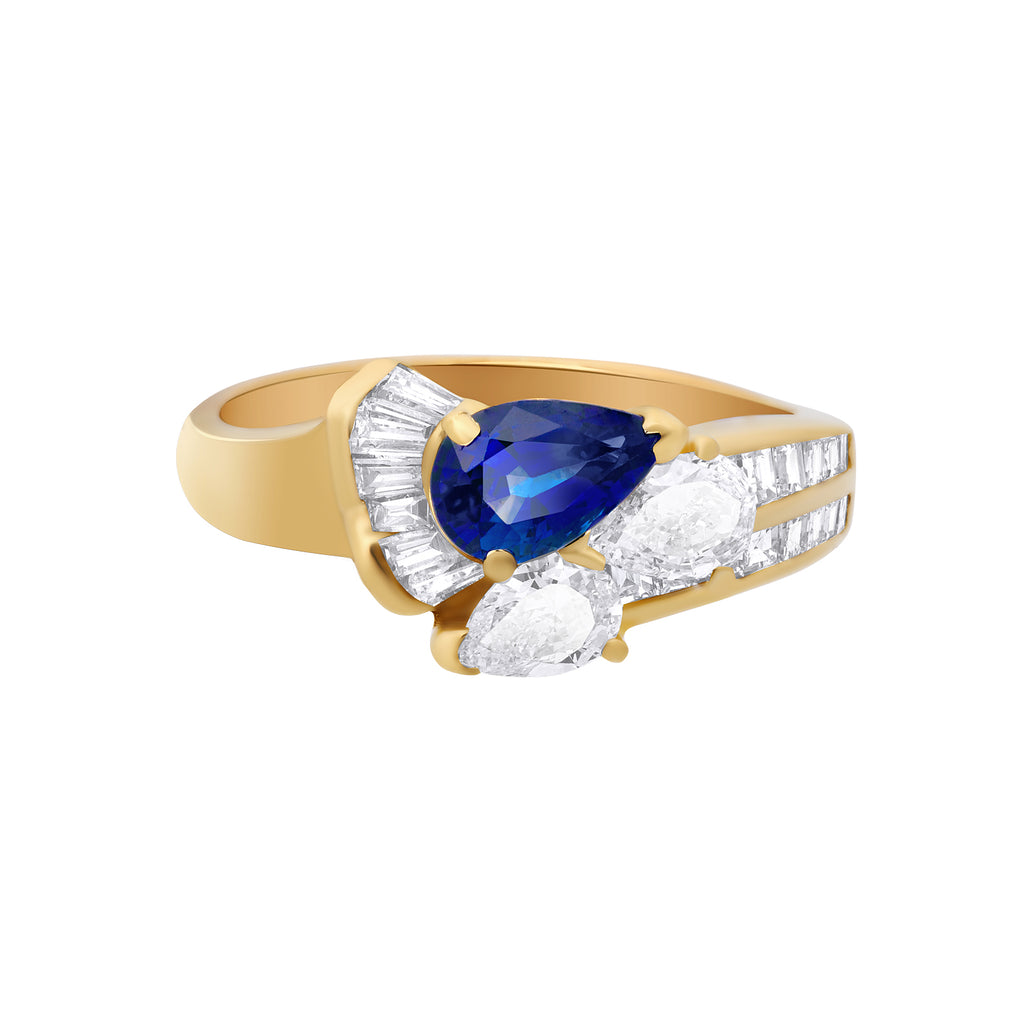 thumbnail image of Sapphire Diamond Gold Ring