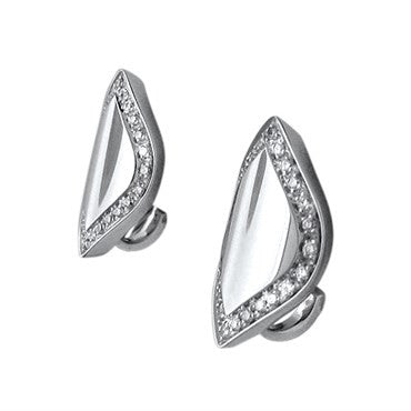 thumbnail image of New Salvini Times Square 18K White Gold Diamond Earrings