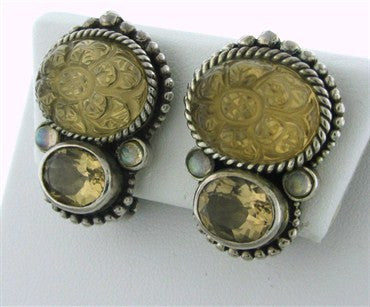 thumbnail image of Stephen Dweck Sterling Silver Gemstone Earrings