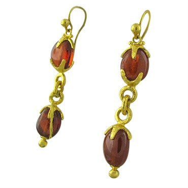 image of New Gurhan Star 24K Gold Spessartite Garnet Earrings