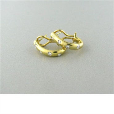 thumbnail image of Tiffany & Co Etoile 18k Gold Platinum Diamond Earrings