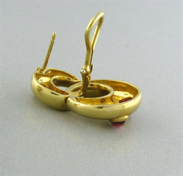image of Tiffany & Co 18K Yellow Gold Pink Tourmaline Earrings