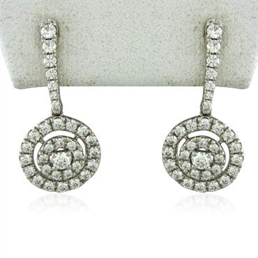 image of New Hearts On Fire Captivation 1.10ctw Diamond Drop Earrings