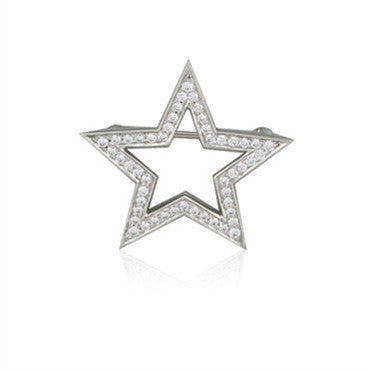 thumbnail image of Tiffany & Co Stars Collection Platinum Diamond Brooch Pin