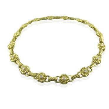 image of Penny Preville 18k Gold 1.00ctw Diamond Necklace 75.2g