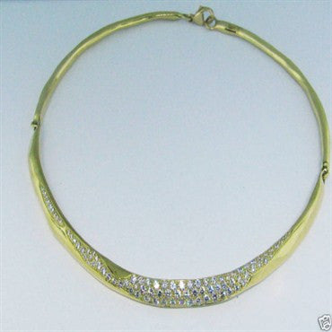 image of Robert Lee Morris 18K Gold 2.80ct Diamond Necklace