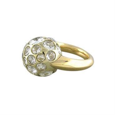 thumbnail image of New Pomellato Harem 18K Gold Rock Crystal Ring