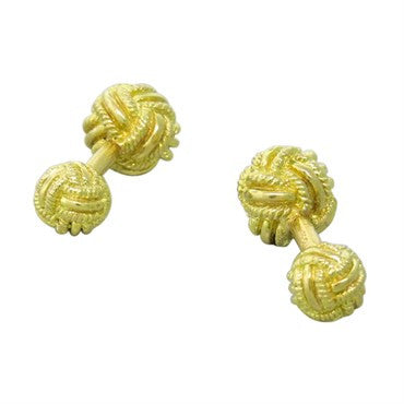 image of Tiffany & Co Gold Weave Pattern Cufflinks