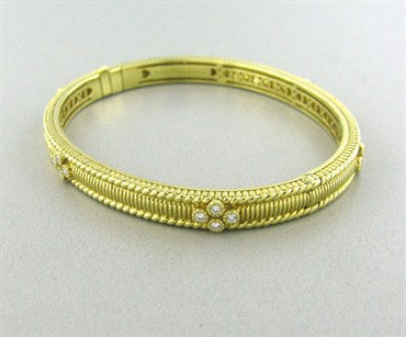 image of Judith Ripka Romance Gothic Diamond Bangle Bracelet